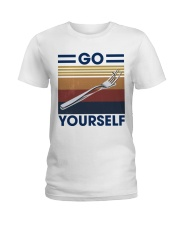 Go fork yourself Ladies T-Shirt thumbnail