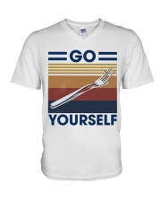 Go fork yourself V-Neck T-Shirt thumbnail