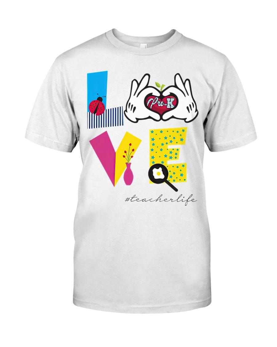 Love Preschool teacher Classic T-Shirt
