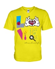 Love Preschool teacher V-Neck T-Shirt thumbnail