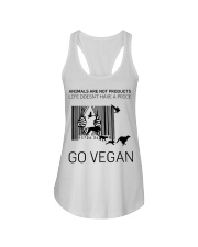 Go vegan Ladies Flowy Tank thumbnail