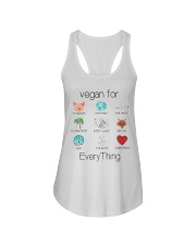 vegan for every thing Ladies Flowy Tank thumbnail