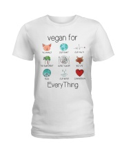 vegan for every thing Ladies T-Shirt front
