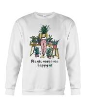 Plants make me happy AF Crewneck Sweatshirt thumbnail
