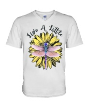 Live a little V-Neck T-Shirt tile