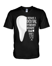Dental hygienist V-Neck T-Shirt thumbnail