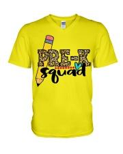 Pre k squad V-Neck T-Shirt thumbnail