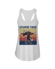 Stupid tree Ladies Flowy Tank thumbnail