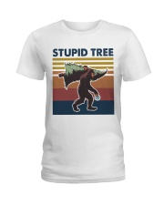 Stupid tree Ladies T-Shirt thumbnail