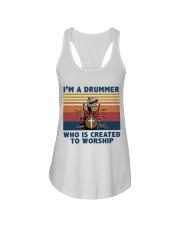 I'm a drummer Ladies Flowy Tank thumbnail