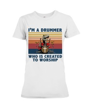 I'm a drummer Premium Fit Ladies Tee thumbnail