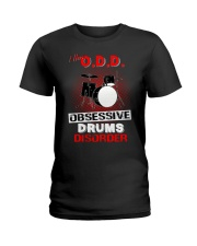 I have ODD obsessive drums disorder Ladies T-Shirt tile