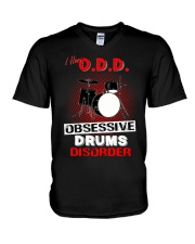 I have ODD obsessive drums disorder V-Neck T-Shirt tile