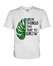 great things take time to grow V-Neck T-Shirt thumbnail