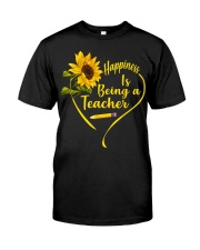 Happiness is being a teacher Classic T-Shirt front