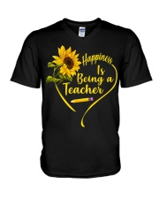 Happiness is being a teacher V-Neck T-Shirt thumbnail