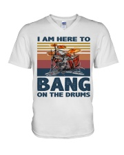 I am here to bang on the drums V-Neck T-Shirt thumbnail