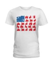 Drummer america Ladies T-Shirt thumbnail