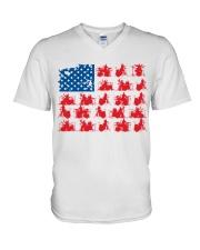 Drummer america V-Neck T-Shirt thumbnail