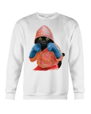 Cat boxing Crewneck Sweatshirt thumbnail