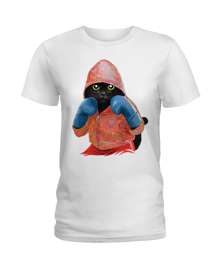 Cat boxing Ladies T-Shirt