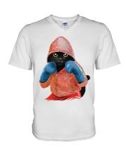 Cat boxing V-Neck T-Shirt thumbnail