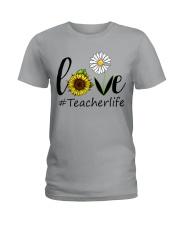 Love teacher life Ladies T-Shirt thumbnail