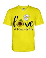 Love teacher life V-Neck T-Shirt thumbnail