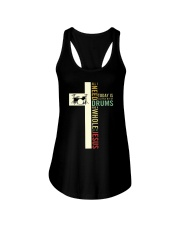 All i need is drum and Jesus Ladies Flowy Tank thumbnail