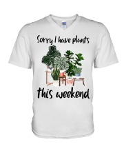 I have plants this weekend V-Neck T-Shirt thumbnail