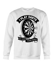 I play darts so i dont choke people Crewneck Sweatshirt thumbnail