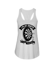 I play darts so i dont choke people Ladies Flowy Tank thumbnail