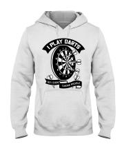 I play darts so i dont choke people Hooded Sweatshirt thumbnail