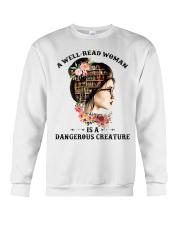 A well-read woman Crewneck Sweatshirt thumbnail