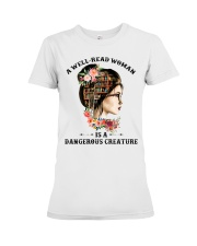A well-read woman Premium Fit Ladies Tee thumbnail