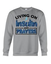 Insulin and prayer Crewneck Sweatshirt thumbnail