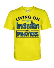 Insulin and prayer V-Neck T-Shirt thumbnail