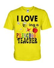 I love being a Preschool teacher V-Neck T-Shirt thumbnail