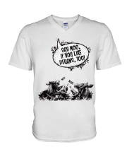 Moo V-Neck T-Shirt thumbnail