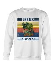 Jesus saves Crewneck Sweatshirt thumbnail