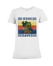 Jesus saves Premium Fit Ladies Tee thumbnail