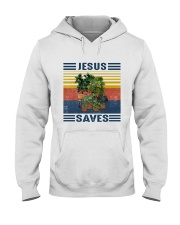 Jesus saves Hooded Sweatshirt thumbnail