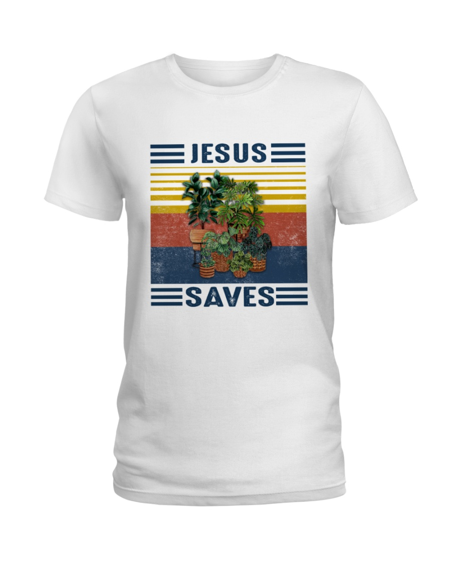 Jesus saves Ladies T-Shirt