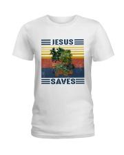 Jesus saves Ladies T-Shirt front