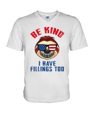 Be kind i have fillings too V-Neck T-Shirt thumbnail