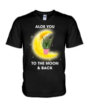 Aloe you to the moon and back V-Neck T-Shirt thumbnail