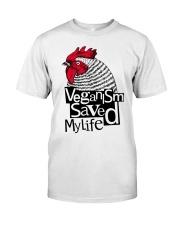 Veganism saved my life Premium Fit Mens Tee thumbnail