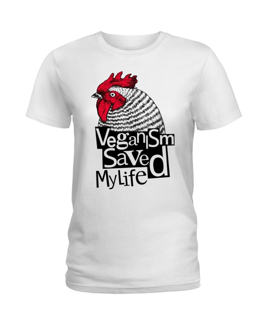 Veganism saved my life Ladies T-Shirt