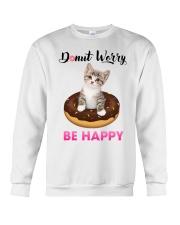 Donut worry be happy Crewneck Sweatshirt thumbnail