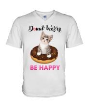 Donut worry be happy V-Neck T-Shirt thumbnail